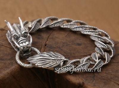 Купить мужской серебряный браслет на руку
