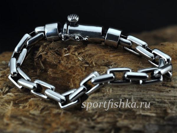 Купить серебряный браслет мужской якорный