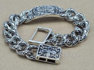 Купить серебряный браслет мужской