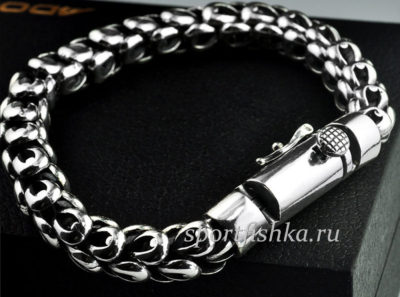 Мужские серебряные браслеты магазин