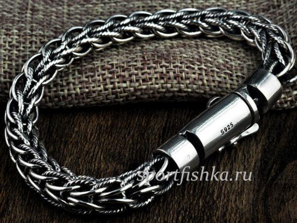 Мужские серебряные браслеты на руку на 23 февраля