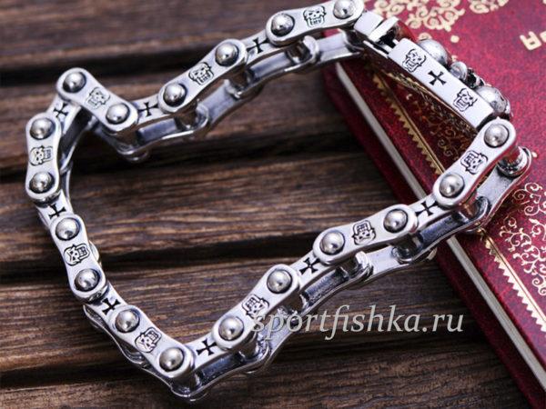 Мужские серебряные браслеты на руку оригинальные