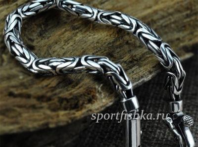 Мужские серебряные браслеты на руку
