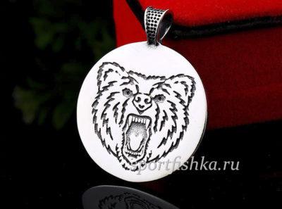 Оберег с медведем в кругу