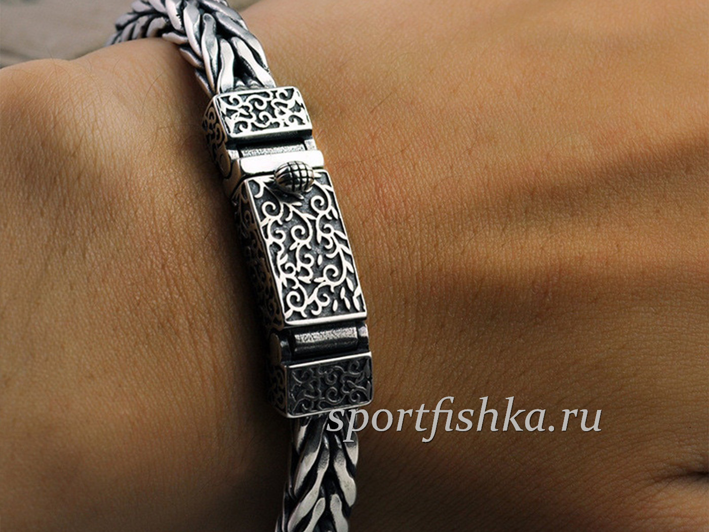 Оригинальные браслеты из серебра мужские