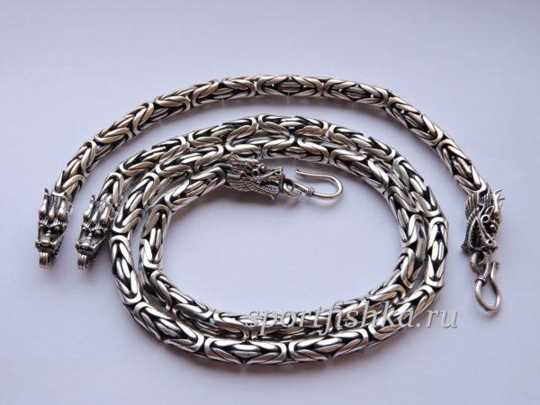 Серебряная цепочка браслет лисий хвост византия