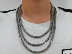 Серебряная цепочка колос