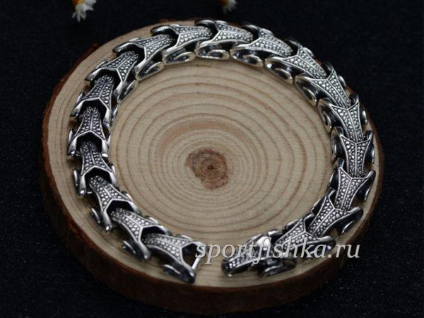 Серебряные мужские браслеты фото