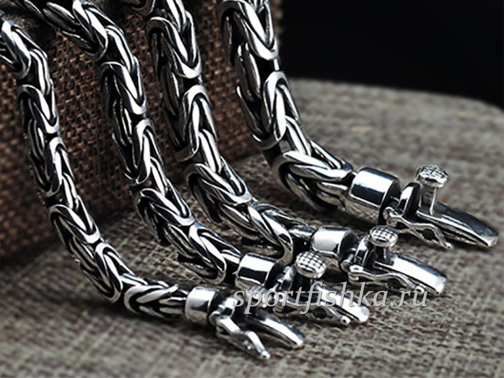 Серебряный браслеты лисий хвост. подарок мужчине на 23 февраля новый год