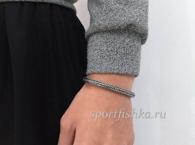 Серебряный браслет колос