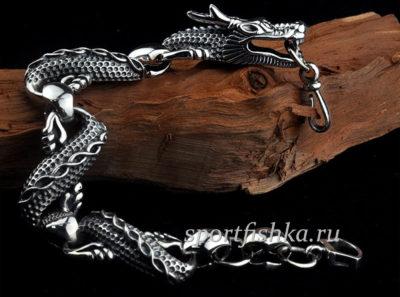 Серебряный браслет мужской купить в минске Москве