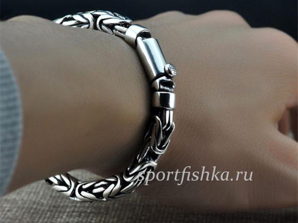 Серебряный браслет мужской купить в москве