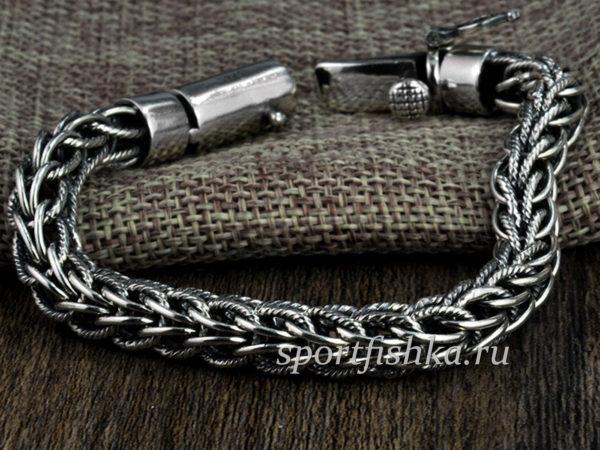Серебряный браслет мужской массивный