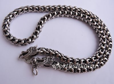 Стильная серебряная мужская цепочка купить
