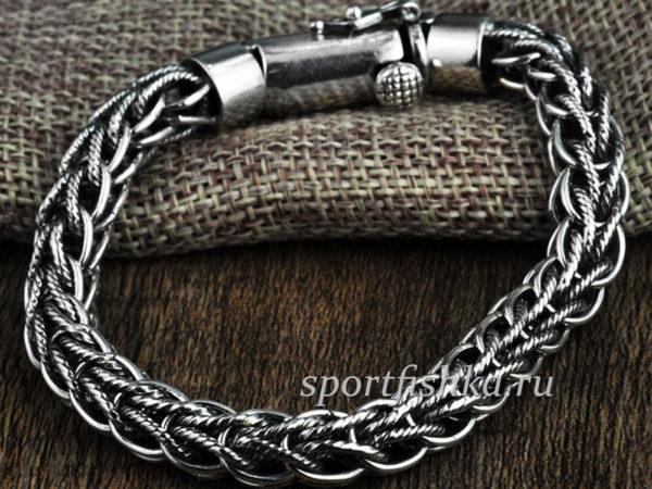Стильный серебряный браслет мужской