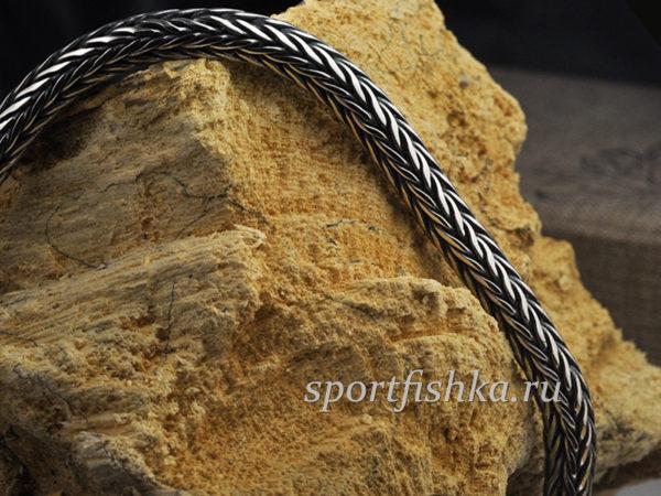 Цепочка плетение колос из серебра