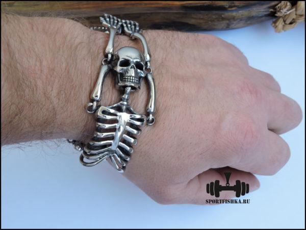 Оригинальный браслет скелет из стали
