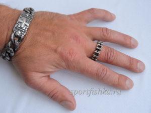 Кольцо из стали мотоциклетная велосипедная цепь на пальце