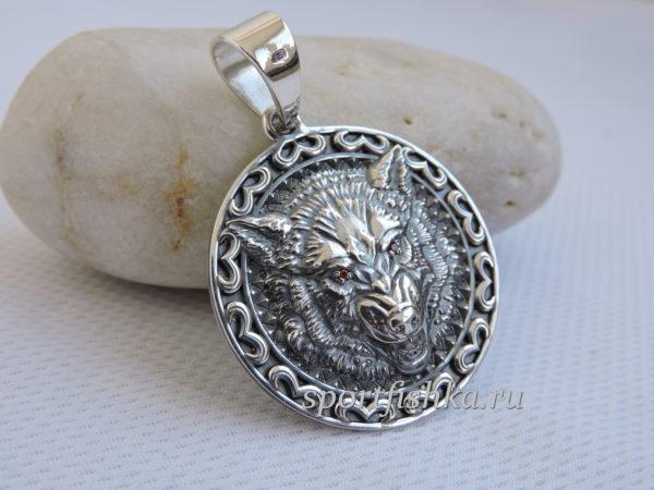 Кулон талисман волк