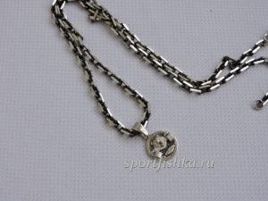 Подарок женщине девушке пауэрлифтеру серебряный кулон