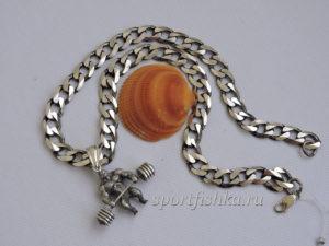 Серебряная панцирная цепочка подарок мужчине