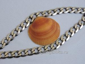Цепочка панцирного плетение серебро фото