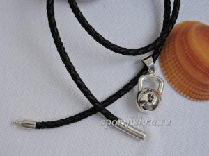 Купить кулон гиря из серебра