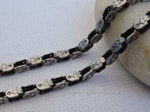 Мужская бижутерия цепочка из стали с крестами