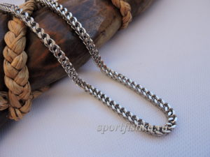 Подарок мужчине цепочка из стали двойной панцирь