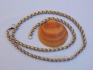 Подарок мужчине цепочка из стали под золото