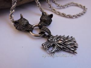 Оберег цепочка волки