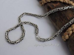 Цепочка лисий хвост серебро фото