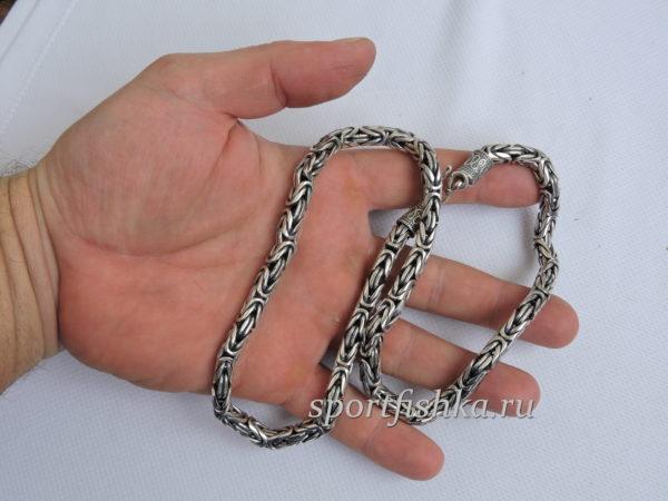 Цепочка лисий хвост серебряная