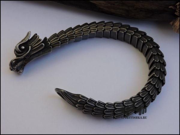 Браслет из стали дракон