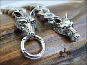 Браслет из стали с волками