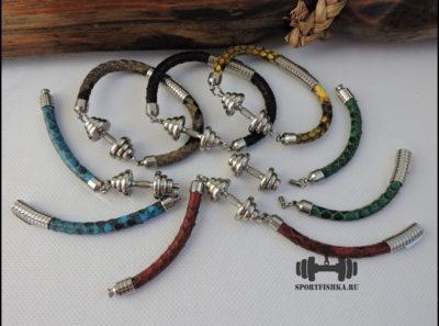 Кожаные браслеты змеи питона Подарок тренеру спортсмену