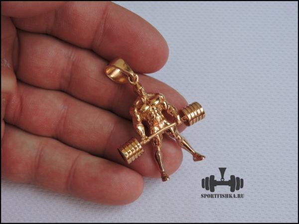 Купить спортивный подарок кулон золотой