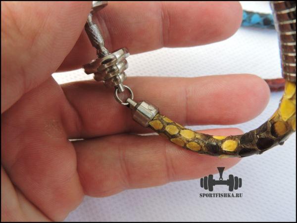 Натуральная кожа питона змеи браслет