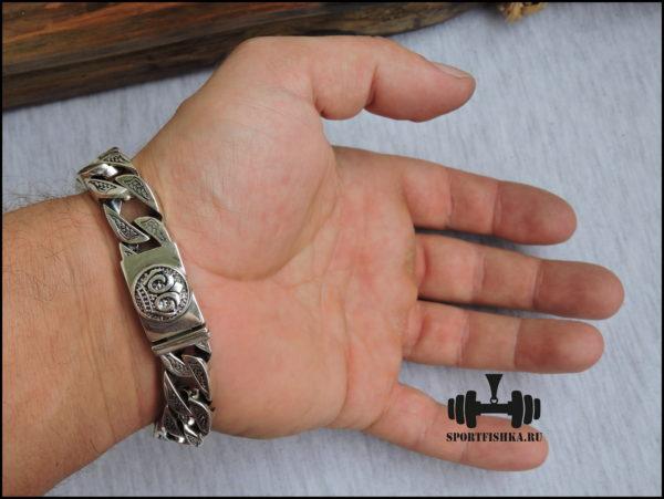 Браслет леопард серебро фото