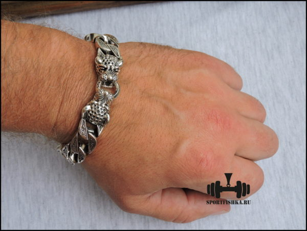 Браслет леопард серебро купить