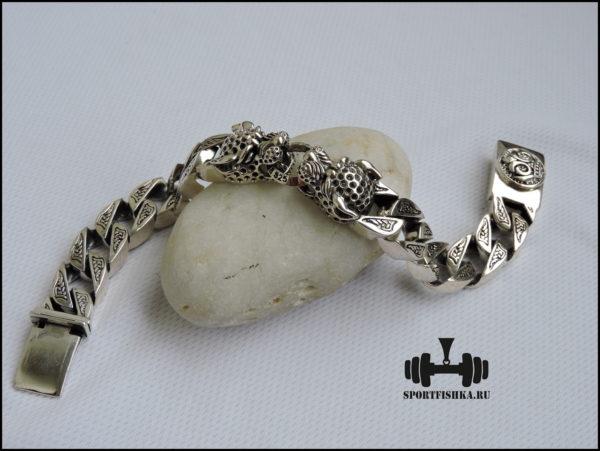 Браслет леопард серебро заказать