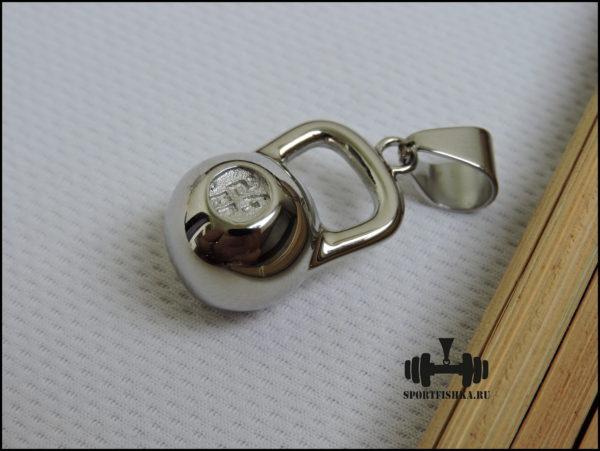 Кулон подвеска гиря из стали с цепью
