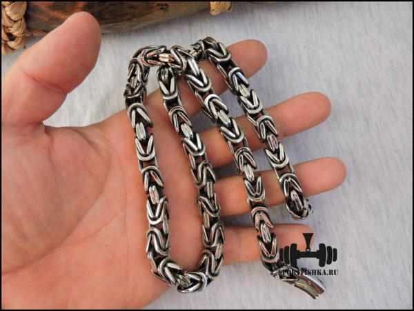 Квадратная цепочка лисий хвост сталь