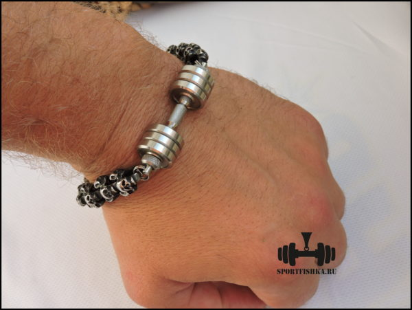 Мужские браслет из серебра стали
