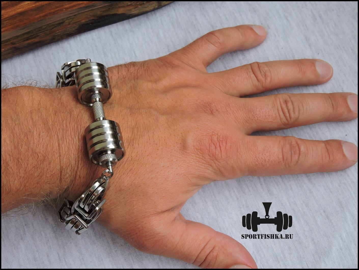 Оригинальный подарок для мужчины браслет из титана