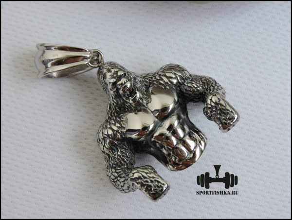 Оригинальный подарок для мужчины кулон горилла