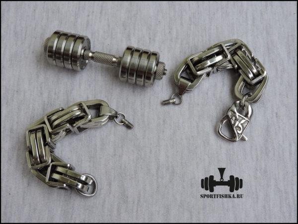 Оригинальный подарок для мужчины огромный браслет из стали