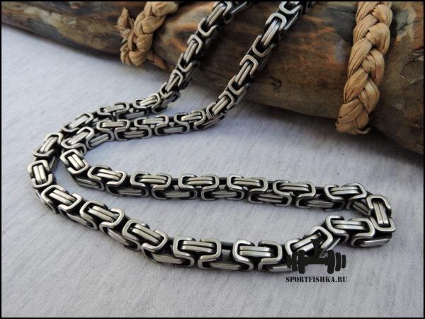 Цепочка византийское плетение 9 мм