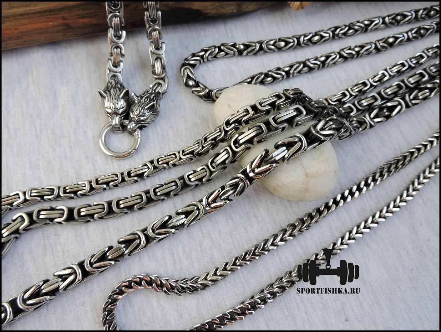 Цепочки из стали и серебра фото