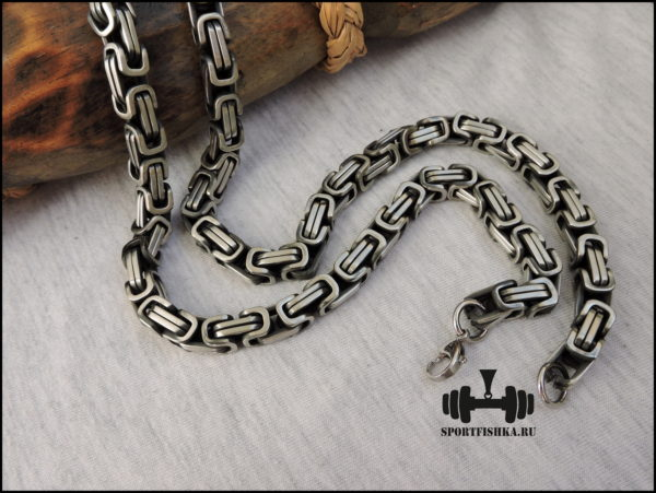 Византийская цепочка из стали 60 см